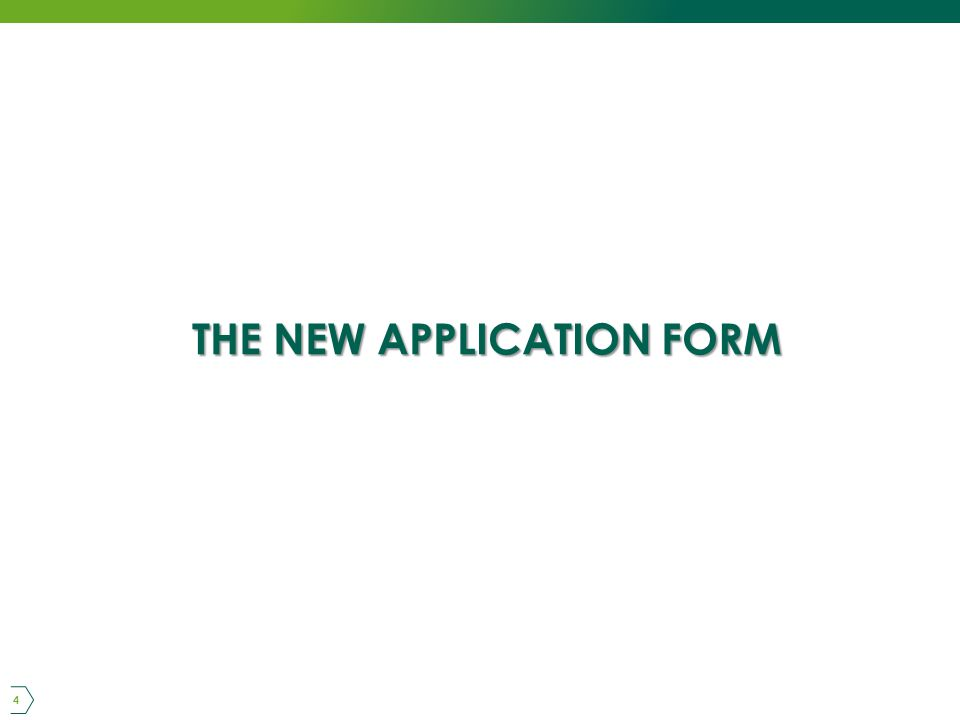 THE NEW APPLICATION FORM 4