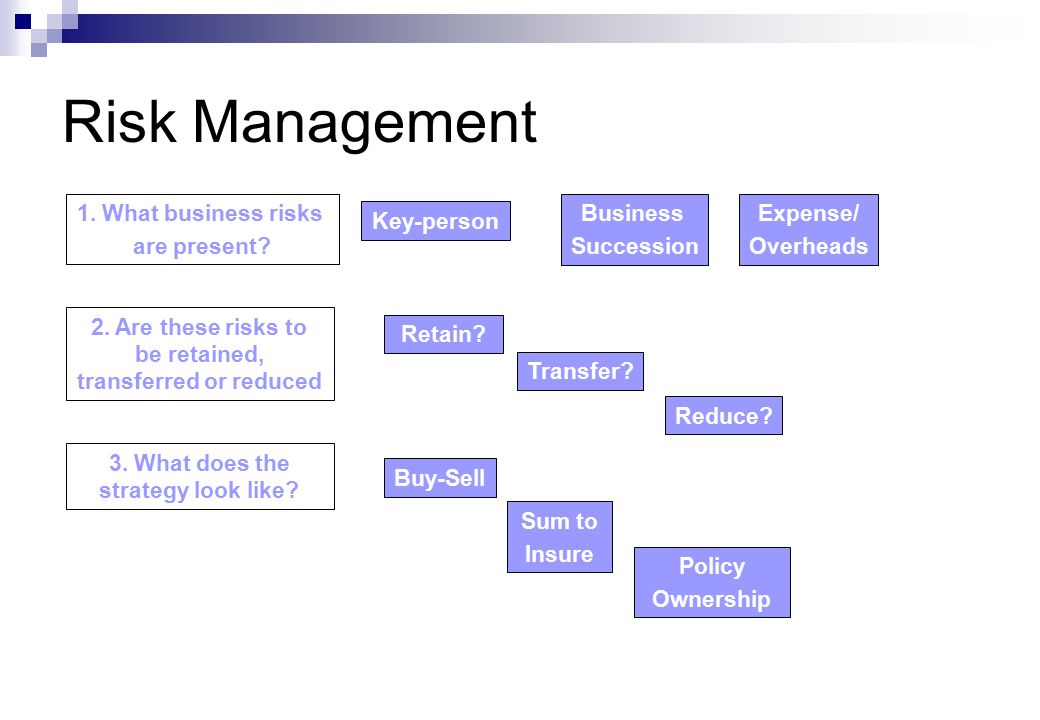 Risk Management 1. What business risks are present.