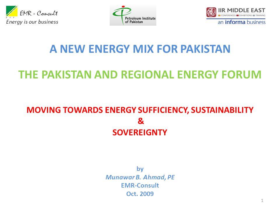 1 by Munawar B. Ahmad, PE EMR-Consult Oct.