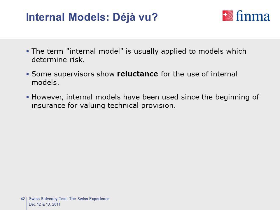 Internal Models: Déjà vu?  The term