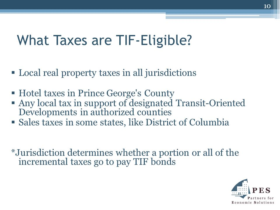 What Taxes are TIF-Eligible.