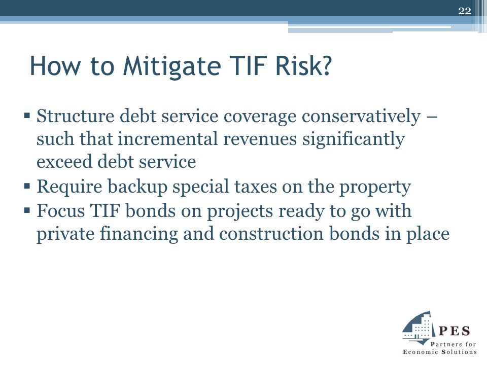 How to Mitigate TIF Risk.