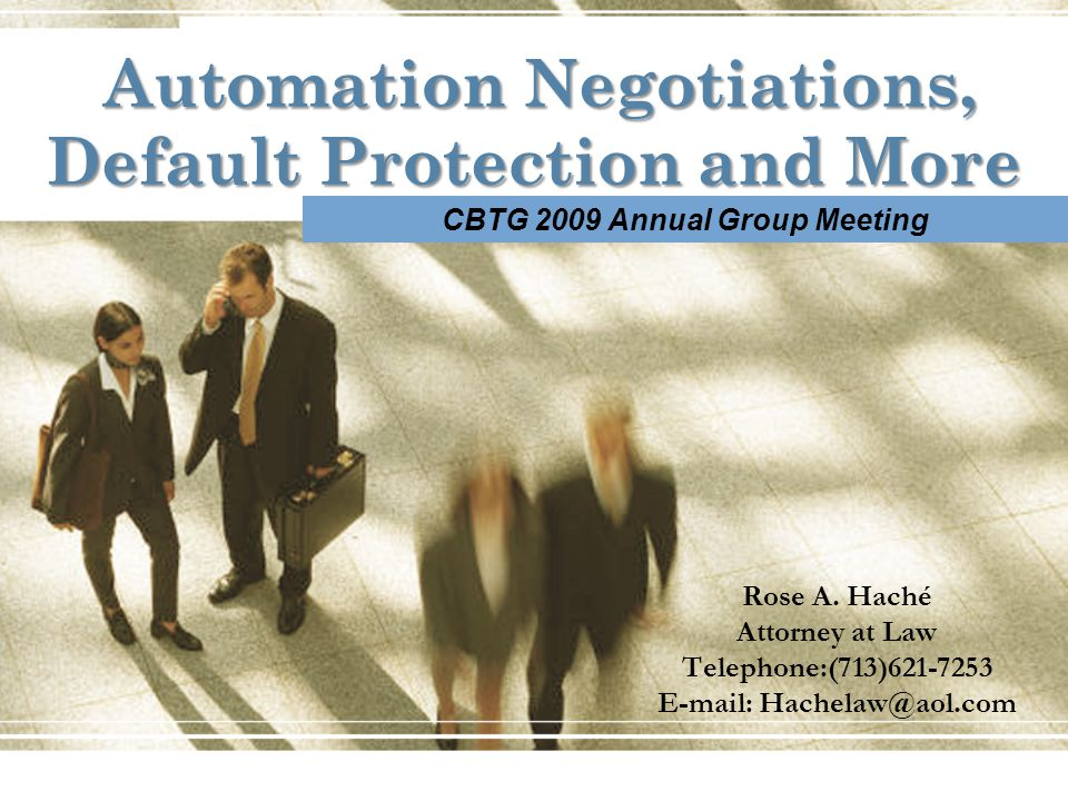 Automation Negotiations, Default Protection and More Rose A.
