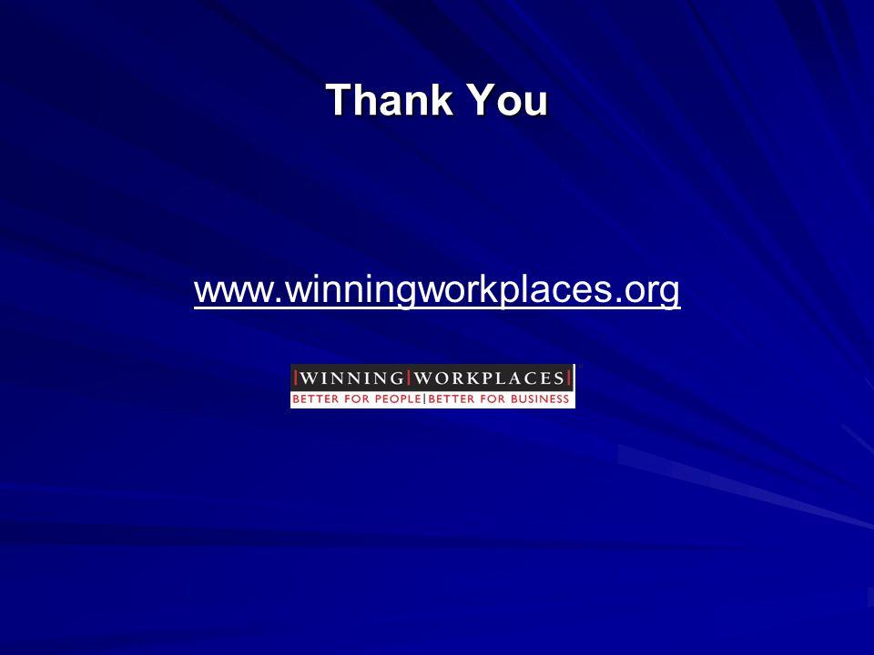Thank You www.winningworkplaces.org
