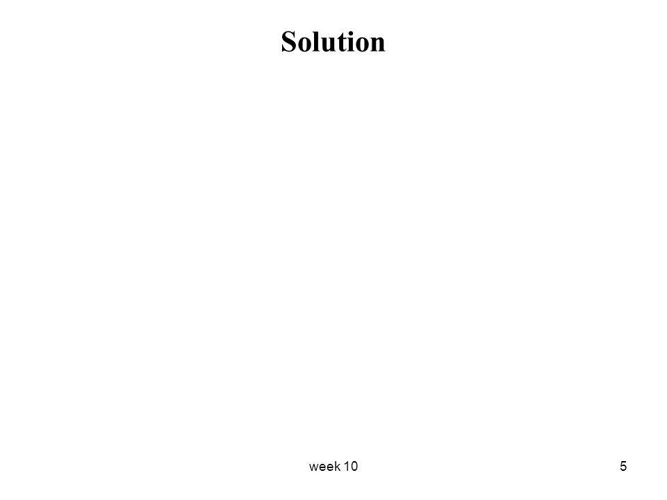 week 105 Solution