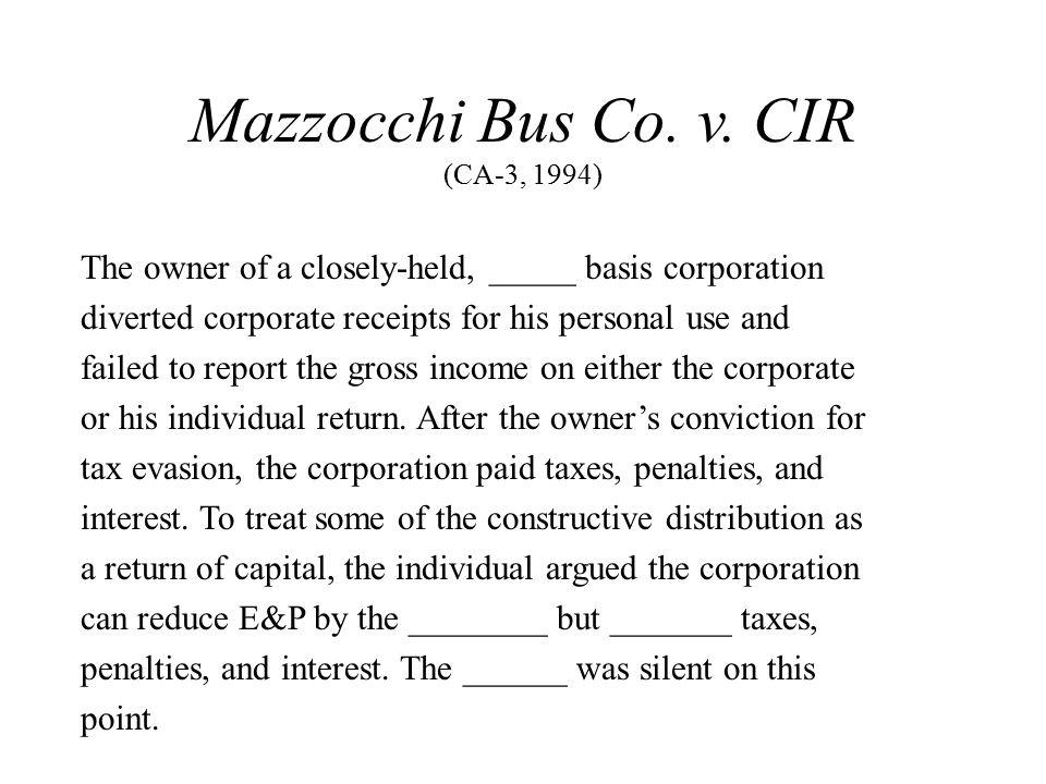 Mazzocchi Bus Co. v.