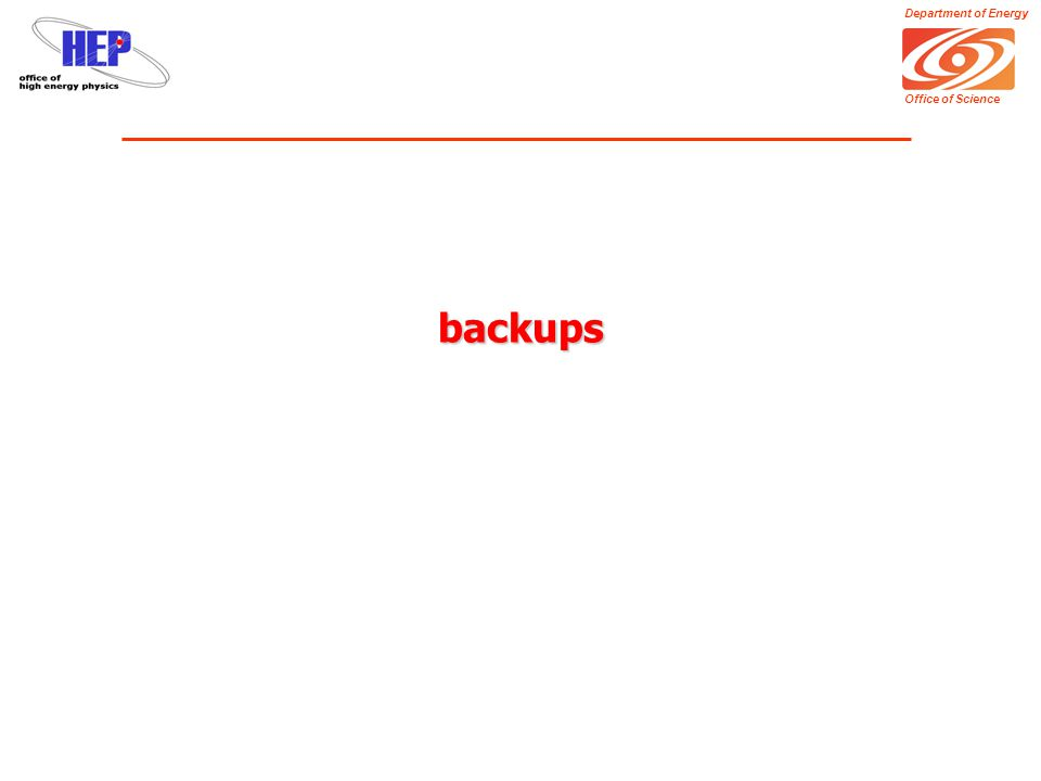 Department of Energy Office of Science backups