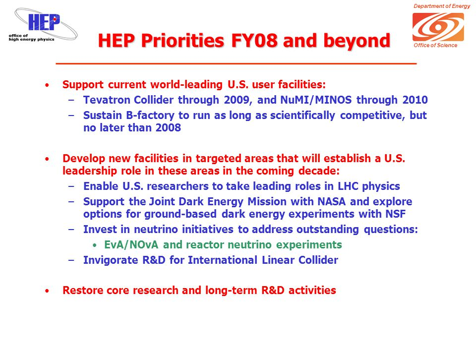 Department of Energy Office of Science Broader Impacts of ILC (Money makes the World go 'round) But SRF also has broader applications…