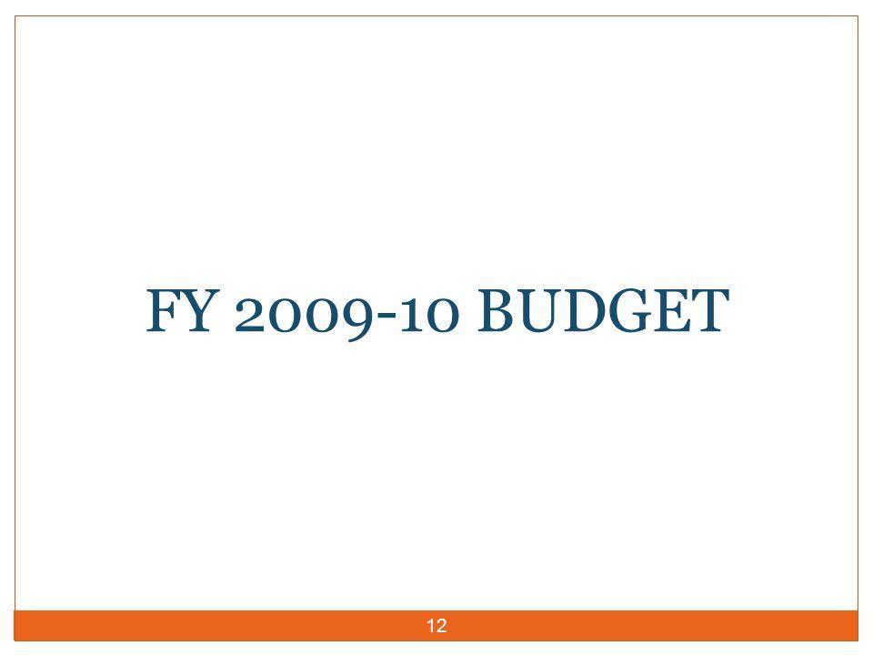 12 FY 2009-10 BUDGET