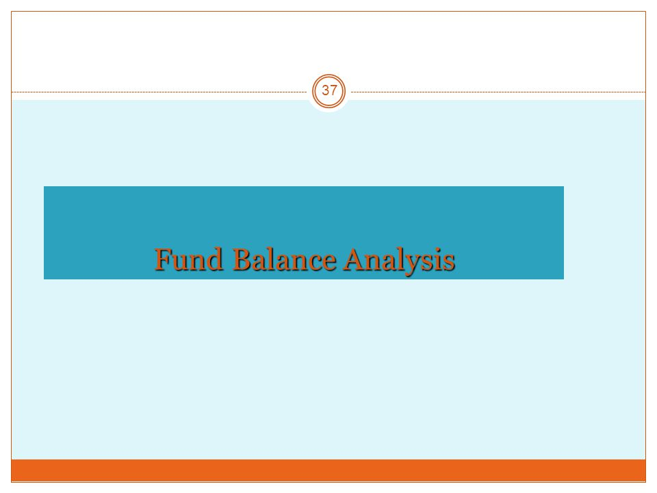 Fund Balance Analysis 37