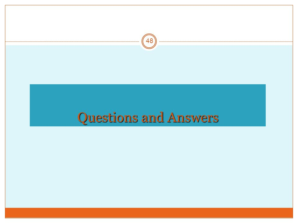 Questions and Answers 48