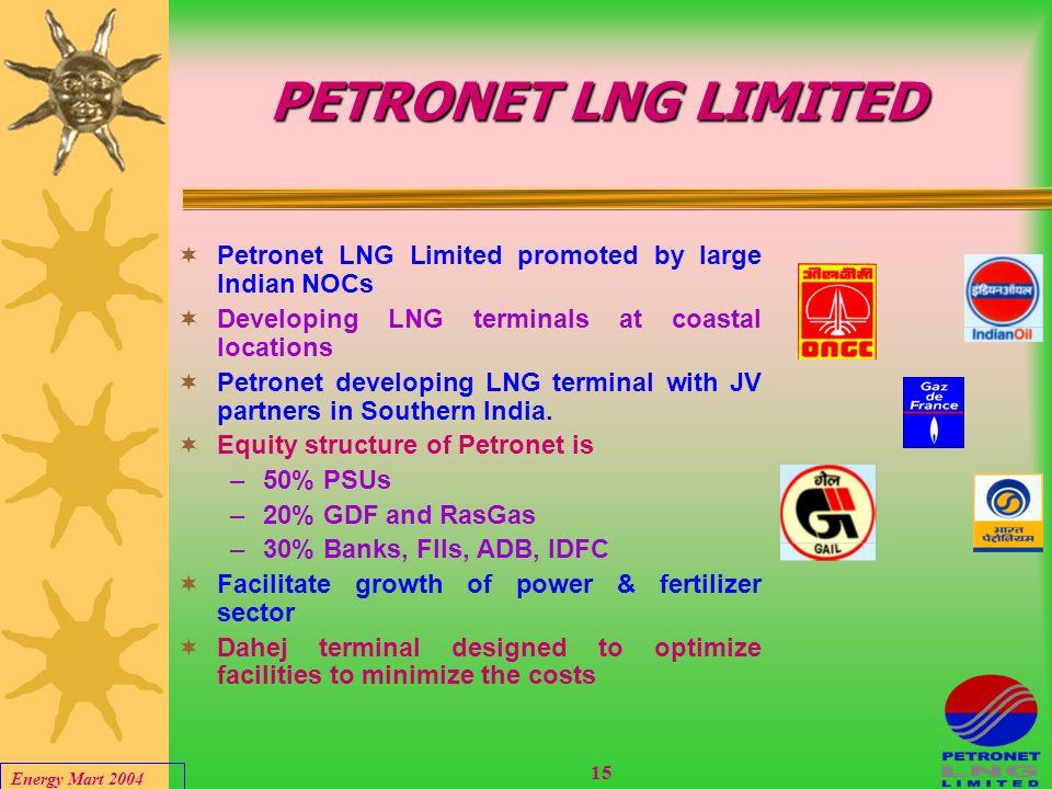 Energy Mart 2004 14 PETRONET DAHEJ LNG TERMINAL
