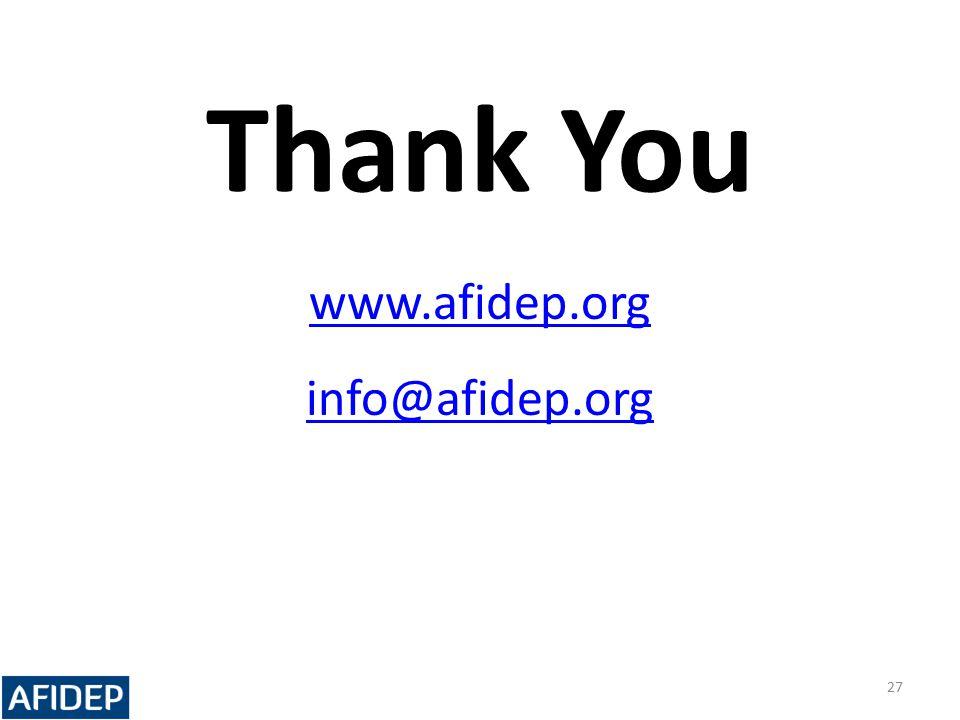 Thank You www.afidep.org info@afidep.org 27