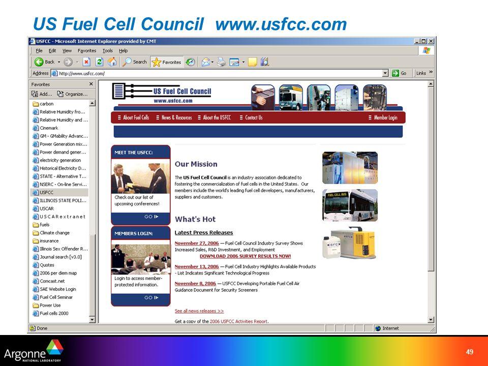 49 US Fuel Cell Council www.usfcc.com