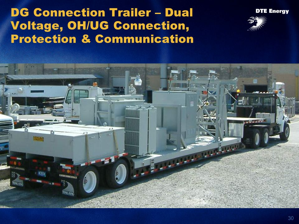 30 DG Connection Trailer – Dual Voltage, OH/UG Connection, Protection & Communication