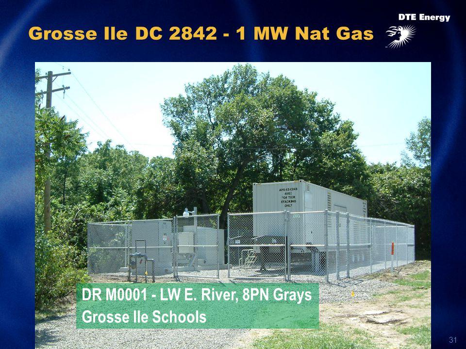 31 Grosse Ile DC 2842 - 1 MW Nat Gas DR M0001 - LW E. River, 8PN Grays Grosse Ile Schools
