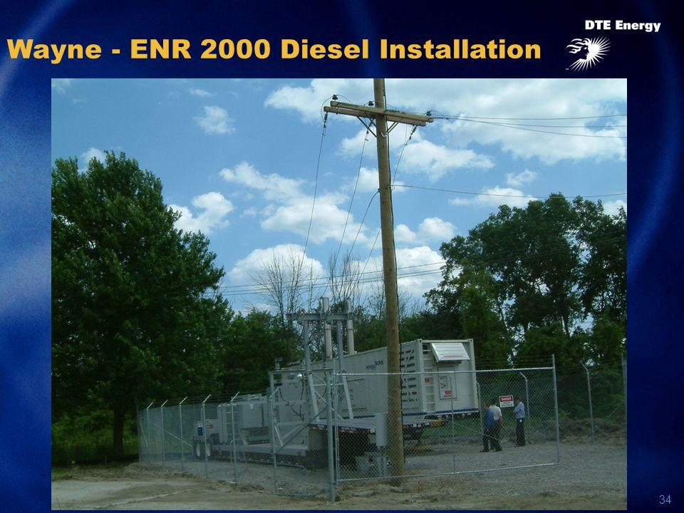34 Wayne - ENR 2000 Diesel Installation