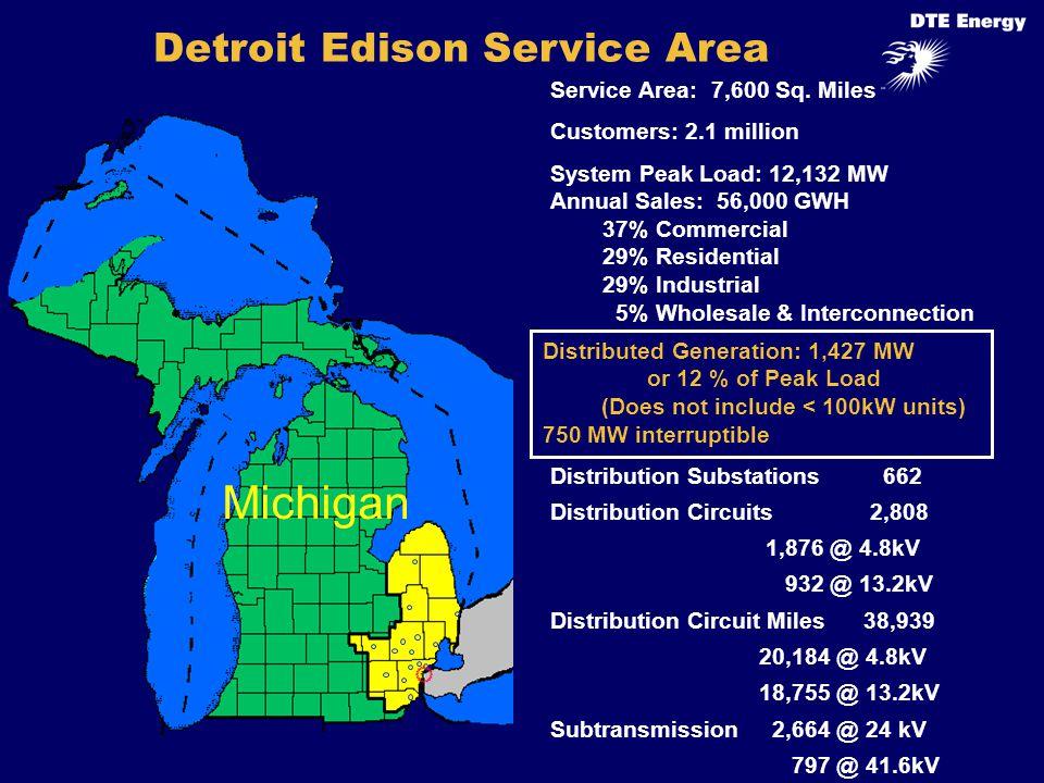 Michigan Service Area: 7,600 Sq.