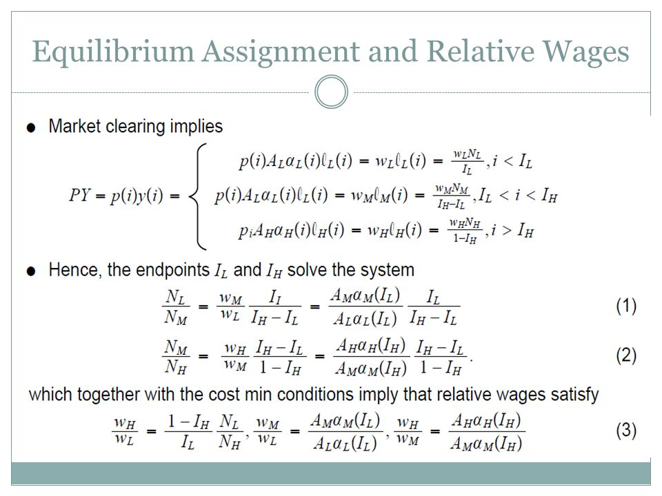 Equilibrium Assignment and Relative Wages