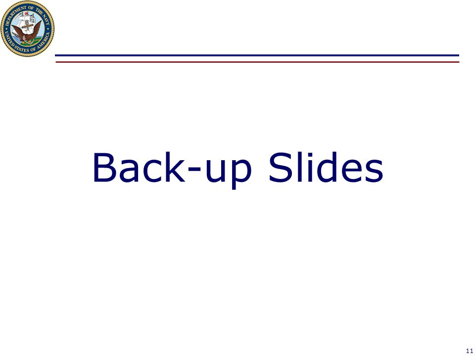 Back-up Slides 11