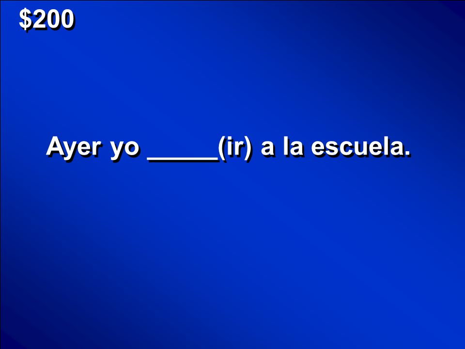 © Mark E. Damon - All Rights Reserved $100 What is c) he ayudado? Scores