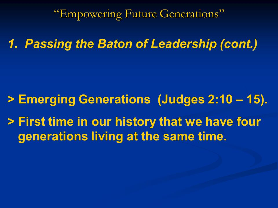 Empowering Future Generations Dr.