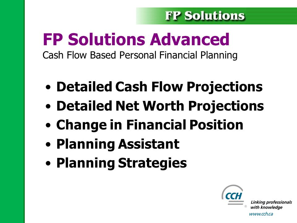 FP Solutions Business Integrated Corporate Financial Planning Holding & Operating Companies Corporate Owned… –Life Insurance –Investments –Real Estate CDA & RDTOH Calculations