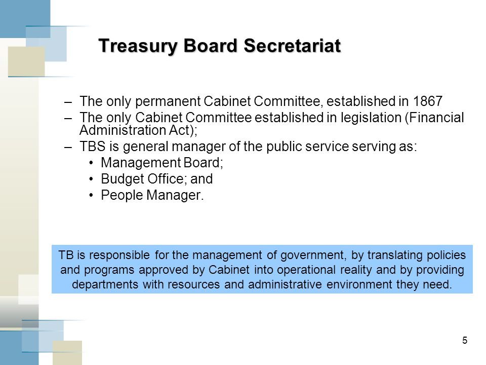 6 The Central Agencies Distinguishing Roles Price $ Quantity Finance Privy Council Office (PCO) Treasury Board