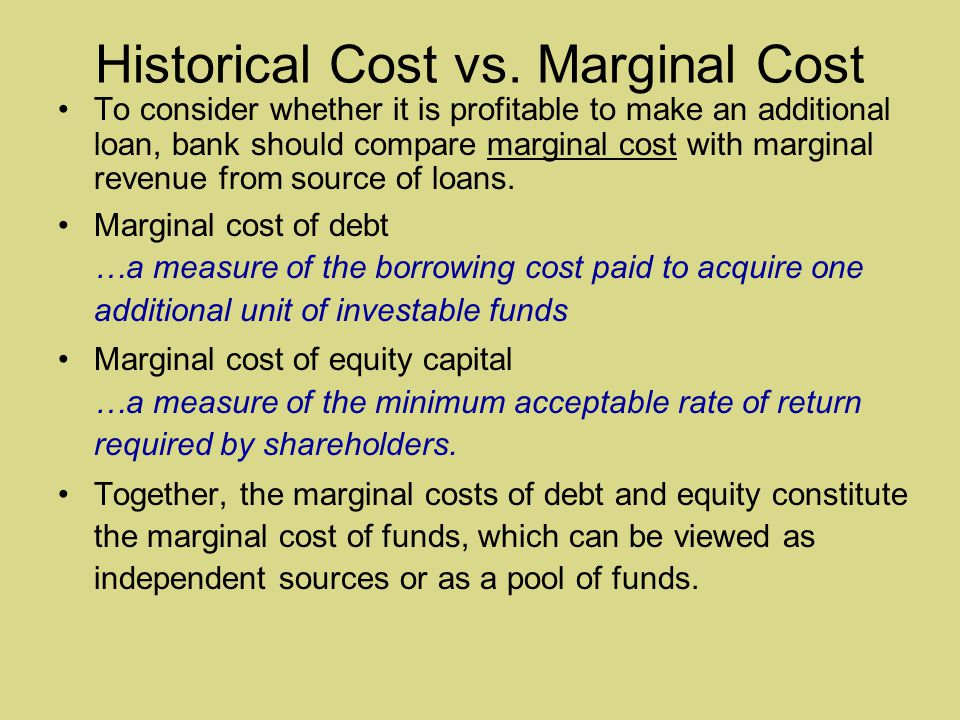 Historical Cost vs.