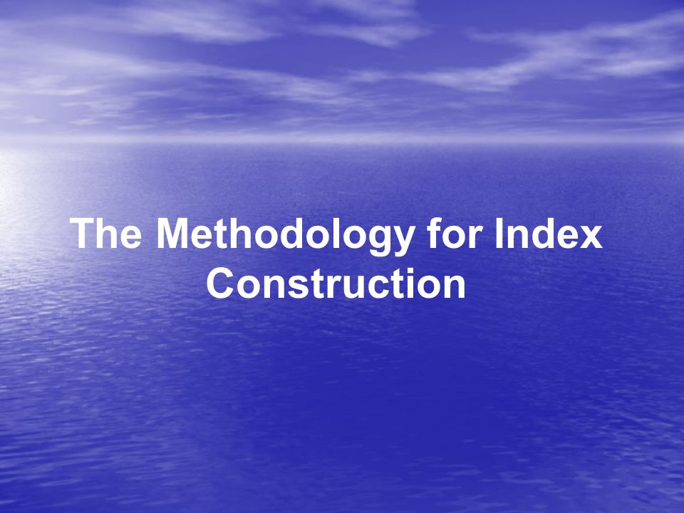 The Methodology for Index Construction