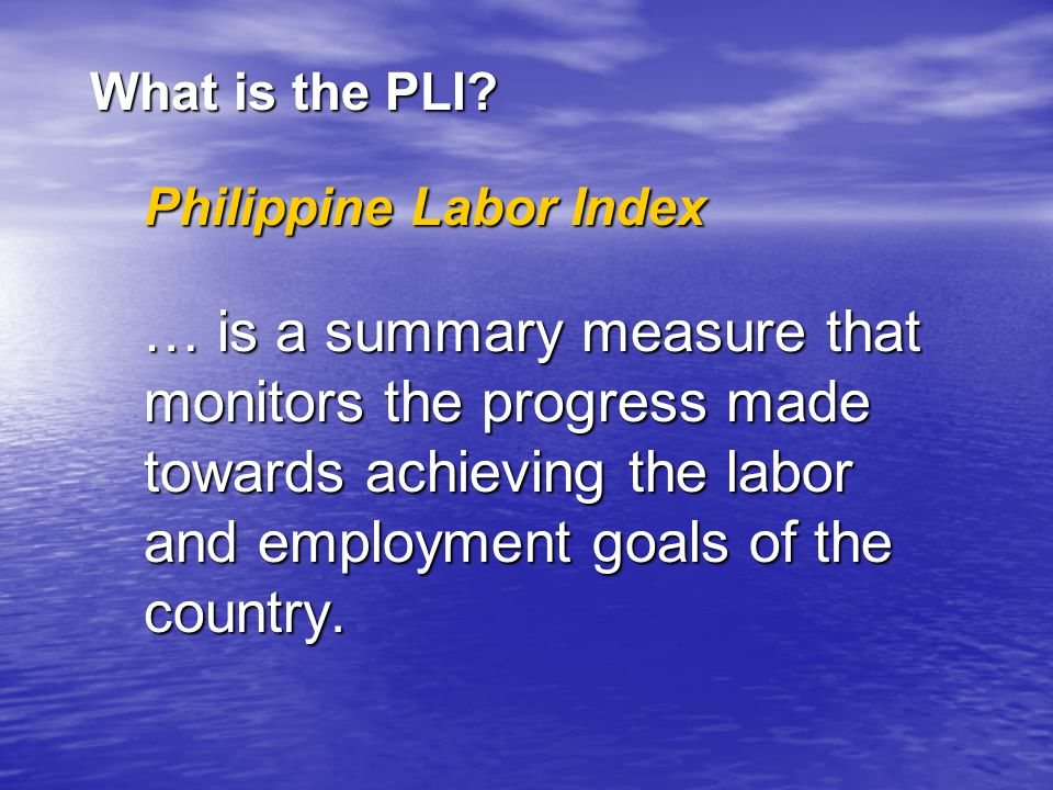 What is the PLI.