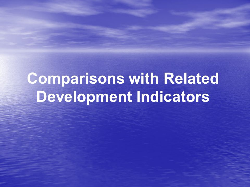 Comparisons with Related Development Indicators