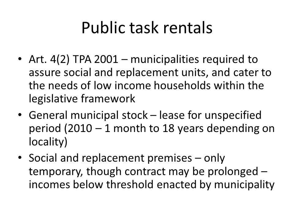 Public task rentals Art.