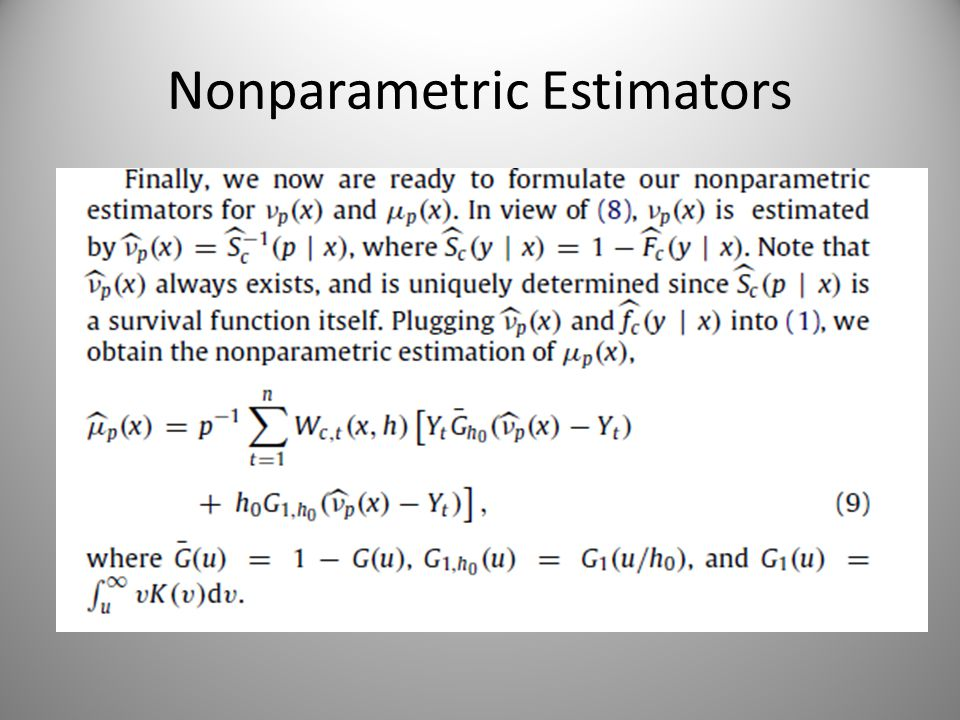 Nonparametric Estimators