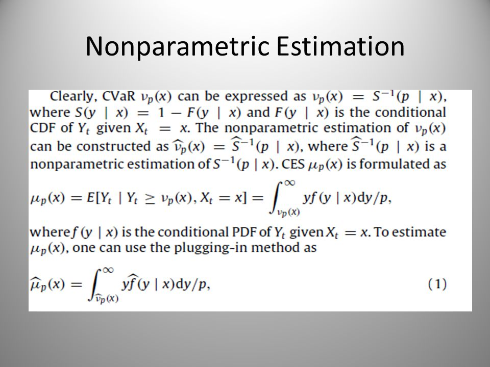 Nonparametric Estimation