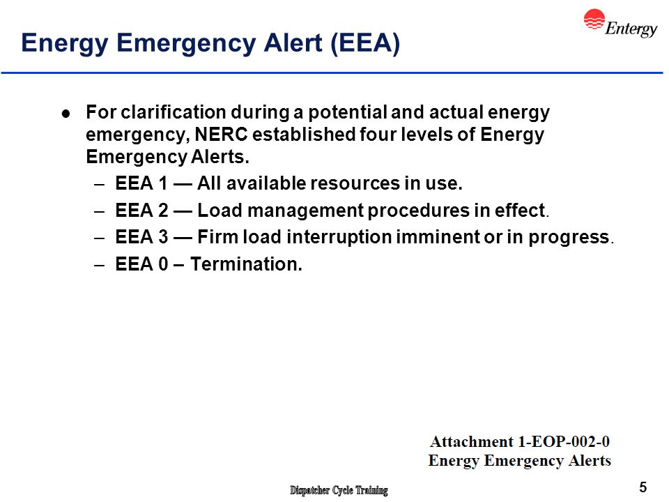 6 Entergy Load Curtailment Procedure Dynamic Shortfall - A Dynamic Shortfall is an unanticipated shortage of supply that is immediate or anticipated to occur within less than ten minutes.