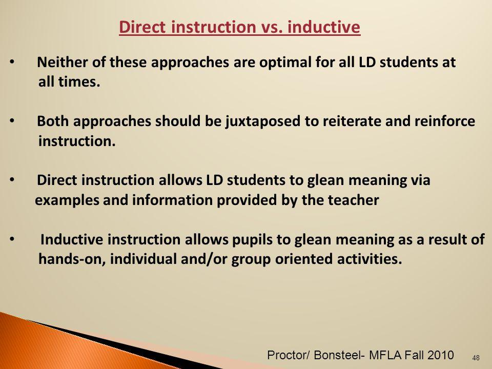 Direct instruction vs.