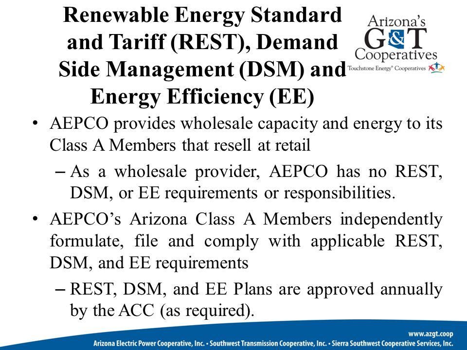 ARM Forecasted Requirements AEPCO's All Requirements Members are the slowest growing Class A Members.