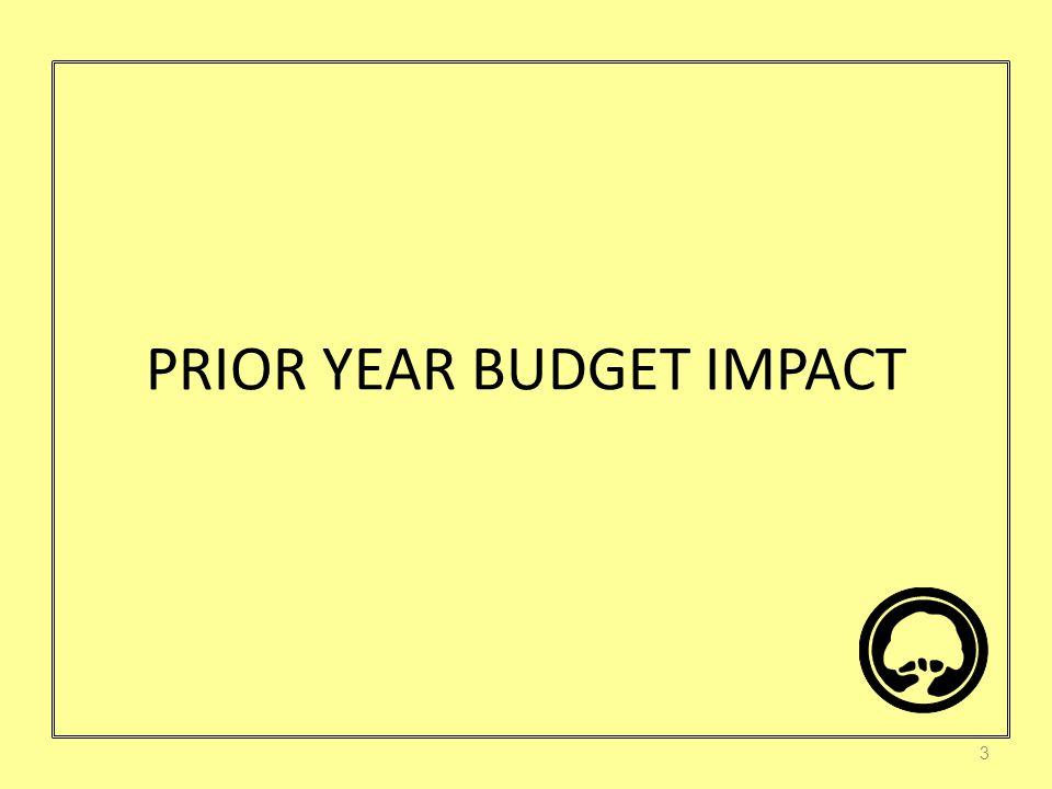 PRIOR YEAR BUDGET IMPACT 3