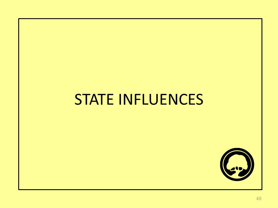 STATE INFLUENCES 49