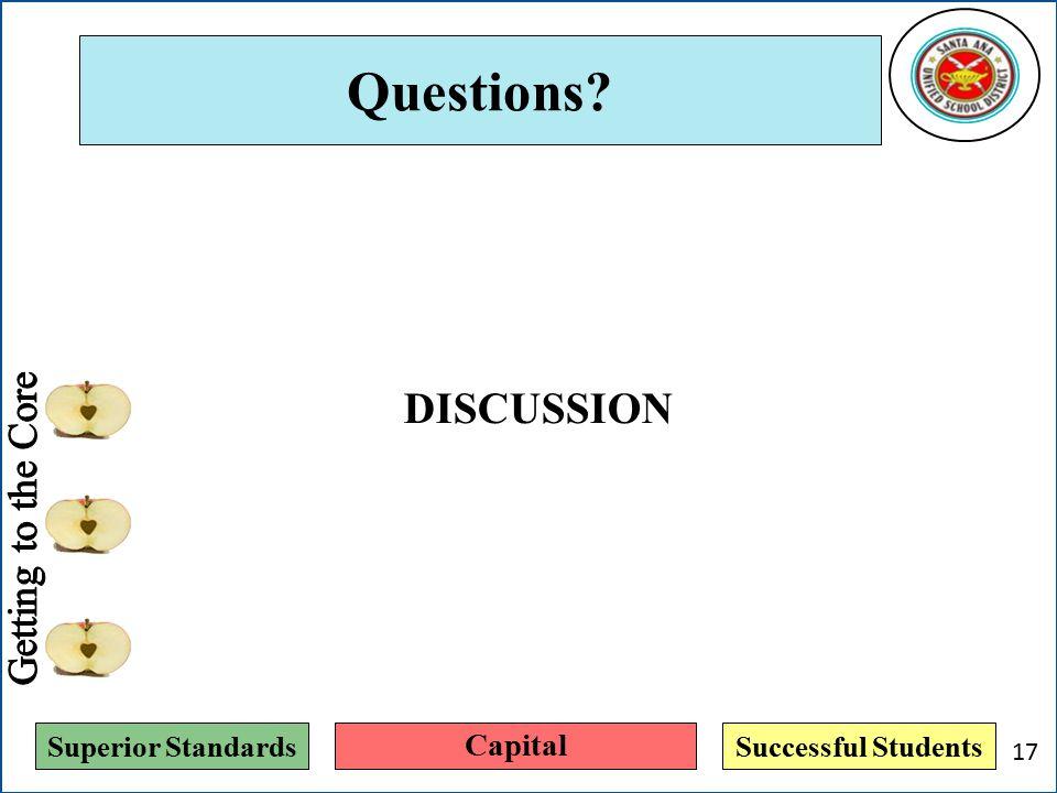 Superior StandardsSuccessful Students Questions? Capital 17 DISCUSSION