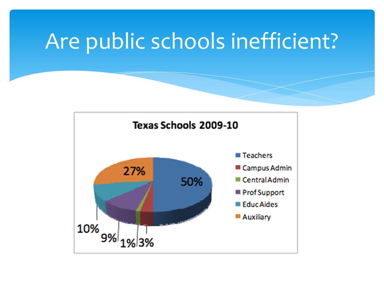 Are public schools inefficient?