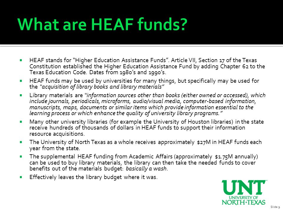  What is the right level of funding for the UNT Libraries.