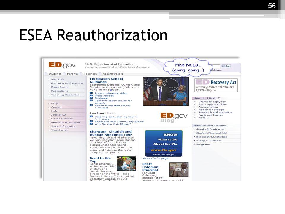 ESEA Reauthorization 56