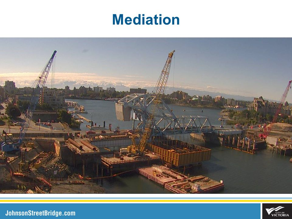 Next Steps Next Quarterly Update to Council in May Continued onsite work by PCL Arrival of the steel bridge span in June 2016 Updates to Council as needed on contingency and possible project cost savings