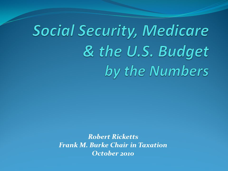 Robert Ricketts Frank M. Burke Chair in Taxation October 2010
