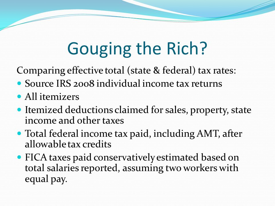 Gouging the Rich.