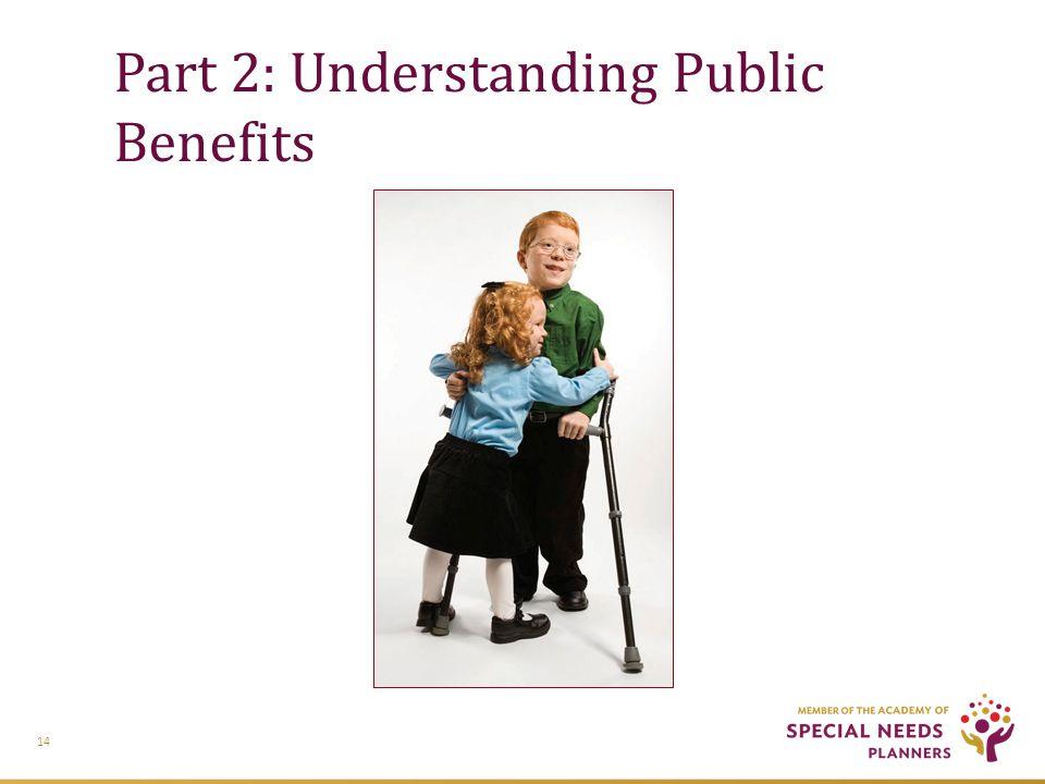 Part 2: Understanding Public Benefits 14