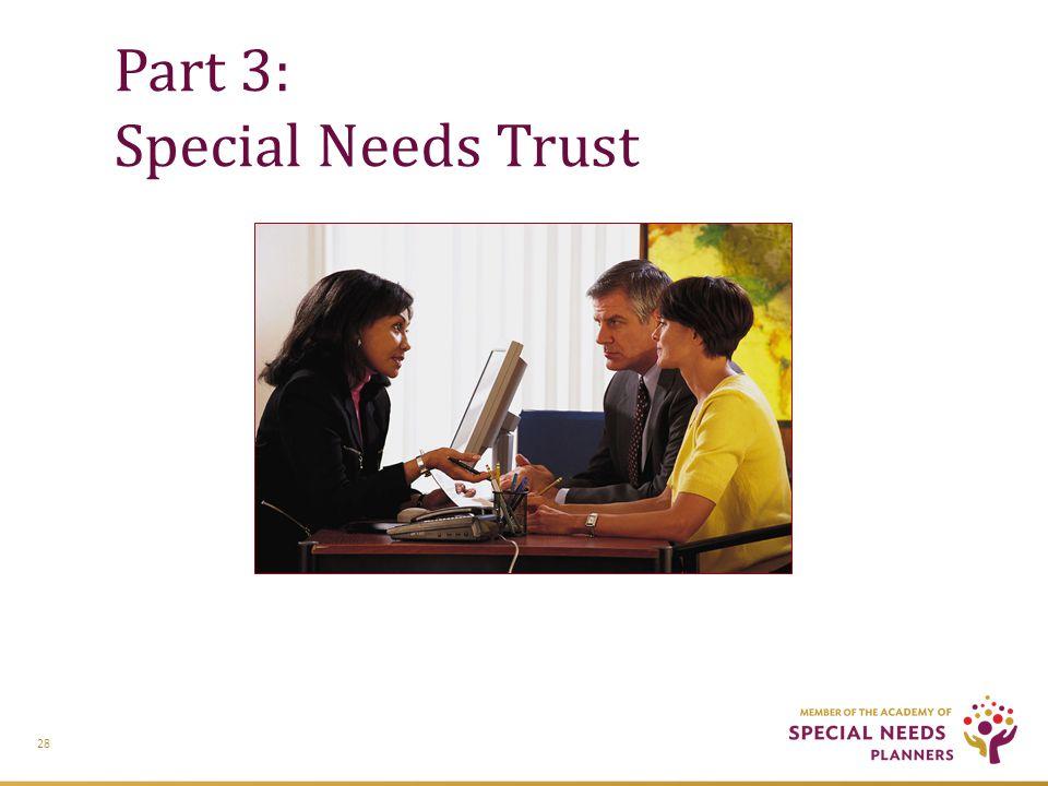 Part 3: Special Needs Trust 28