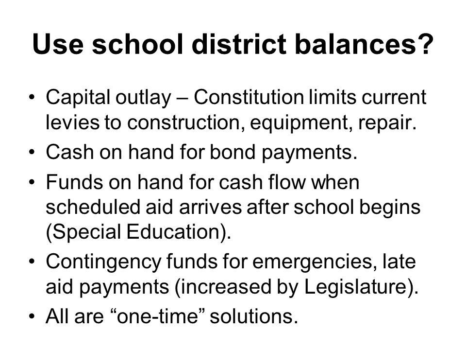 Use school district balances.